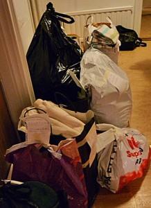 Insamling av kläder och textil