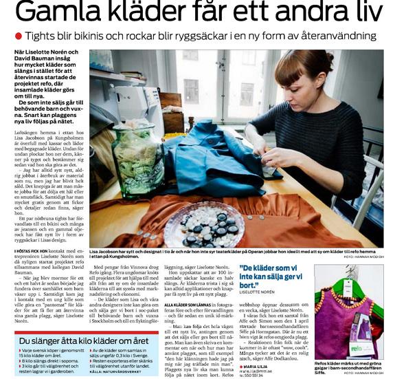artikel om refo i Mitt i Kungsholmen